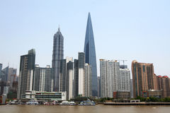 Skyline of Shanghai, China Royalty Free Stock Images