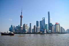 Skyline Shanghais China Stockbild