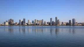 Skyline of Sharjah City Royalty Free Stock Photos