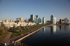 Skyline of Sharjah City. United Arab Emirates Royalty Free Stock Images