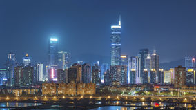 Skyline of Shenzhen City, China Royalty Free Stock Photography