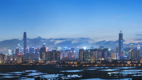 Skyline of Shenzhen City, China Stock Photo