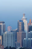 Skyline of Shenzhen City, China. Royalty Free Stock Photography