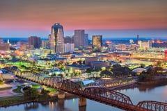 Skyline Shreveports, Louisiana, USA lizenzfreie stockbilder