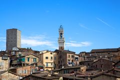 Skyline of Siena, Italy Stock Images