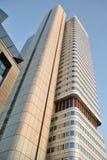 Skyline-silberner Kontrollturm, als Dresdner Bank-Hauptsitz Lizenzfreie Stockfotos