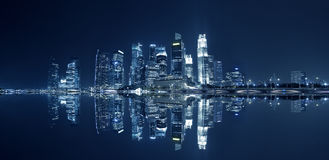 The skyline of Singapore Stock Photography