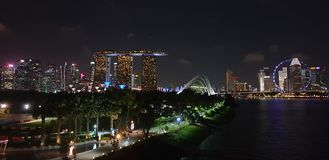 Skyline of Singapore stock images