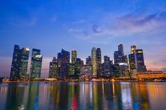 Skyline of Singapore building Royalty Free Stock Photos