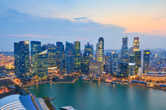 Skyline of Singapore building Royalty Free Stock Photography