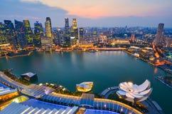 Skyline of Singapore building Stock Photography