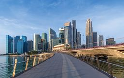 Skyline of Singapore business district Royalty Free Stock Photography