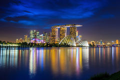 Skyline of Singapore Stock Photography