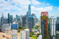 Singapore Downtown skyline. Business architecture Stock Photos