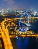 Singapore Ferries Wheel, aerial view royalty free stock images