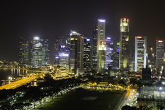 Skyline of Singapore Royalty Free Stock Images