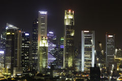 Skyline of Singapore Royalty Free Stock Image