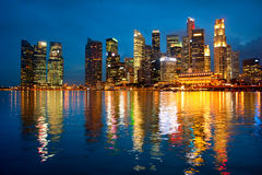 Skyline of Singapore Royalty Free Stock Photo