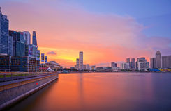 Skyline of Singapore River Royalty Free Stock Photography