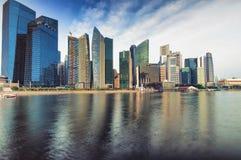 Skyline Singapurs CBD Lizenzfreie Stockfotos