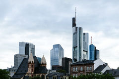 Skyline with skyscrapers - Frankfurt am Main, Germany, financial district royalty free stock image