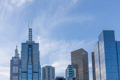 Skyline of skyscrapers in Melbourne CBD Stock Images