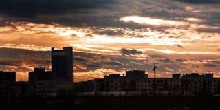 Skyline sombrio imagens de stock royalty free