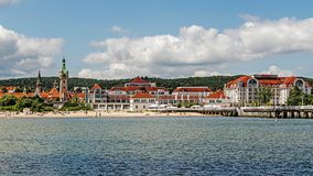 Skyline of Sopot Stock Photos
