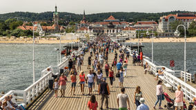 Skyline of Sopot Stock Images