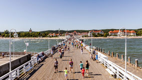 Skyline of Sopot Royalty Free Stock Images