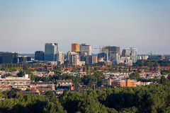 Skyline of the South of Amsterdam. Offices and houses at the Skyline on the south of Amsterdam in the Netherlands stock photography