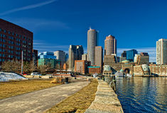 Skyline at south boston in winter Royalty Free Stock Photography