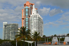 Skyline, South Pointe Park, South Beach, Florida Royalty Free Stock Image