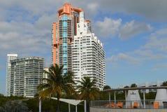 Skyline, South Pointe Park, South Beach, Florida Royalty Free Stock Image