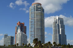 Skyline, South Pointe Park, South Beach, Florida Royalty Free Stock Photography