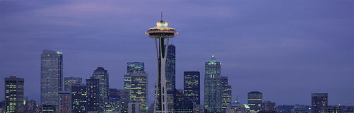 Skyline with the Space Needle Royalty Free Stock Photos