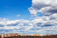 Skyline with spring evening clouds Stock Images