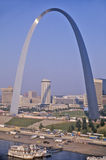 Skyline of St. Louis, MO with Arch Royalty Free Stock Photography