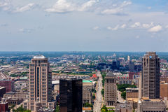 Skyline of St. Louis. Tall buildings and skyline of St. Louis Royalty Free Stock Photography