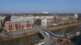 Skyline St Petersburg do lapso de tempo filme