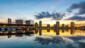 Skyline St Petersburg, Florida stock footage