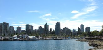 Skyline from Stanley Park Royalty Free Stock Photography