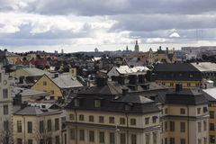 Skyline of Stockholm city Stock Photo