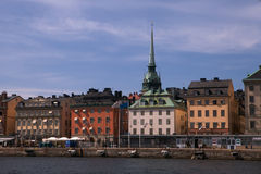 Skyline Stockholm Downtown. With copy space Stock Photography