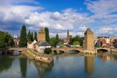 Skyline Strasbourg in  Alsace Royalty Free Stock Image