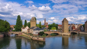 Skyline Strasbourg em Alsácia Fotografia de Stock Royalty Free