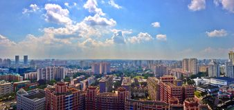 Skyline of suburbs in Singapore Stock Photography