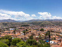 Skyline of Sucre, Bolivia Royalty Free Stock Image