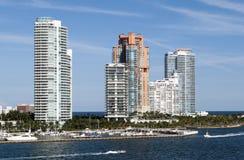 Skyline sul da praia de Miami Imagem de Stock