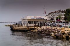 Summer Vacation Town Sea Port. Skyline of a summer town named Cinarcik located in Marmara region of the country Turkey. For such a small region compared to the royalty free stock photography